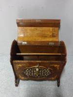 Superb Victorian Burr Walnut Inlaid Canterbury (3 of 12)