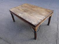 Superb Iron & Teak Dining Table c.1920