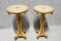 Pair of Painted Wine Lamp Tables c.1920