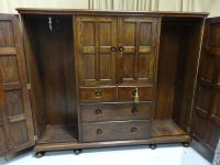 Oak Cottage Compactum Wardrobe of Small Proportions (4 of 8)