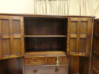Oak Cottage Compactum Wardrobe of Small Proportions (5 of 8)