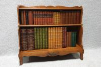 Pretty French Walnut Open Bookcase c.1920 (2 of 10)