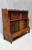Pretty French Walnut Open Bookcase c.1920 (5 of 10)