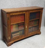 Solid Oak Low Adjustable Bookcase (7 of 7)
