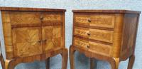 French Oversized Marquetry Bedside Cabinets (3 of 7)