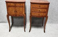 French Oversized Marquetry Bedside Cabinets (2 of 7)