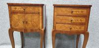 French Oversized Marquetry Bedside Cabinets (7 of 7)