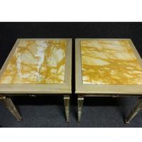 Pair of Marble Topped Lamp / End Tables (8 of 9)