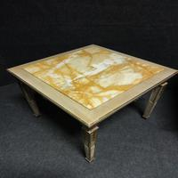 Pair of Marble Topped Lamp / End Tables (6 of 9)