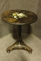 Victorian Papier Mache Pedestal Table c.1850 (2 of 5)