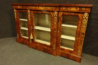 Outstanding Walnut Floral Marquetry Victorian Credenza (8 of 9)