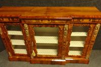 Outstanding Walnut Floral Marquetry Victorian Credenza (9 of 9)