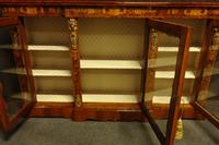 Outstanding Walnut Floral Marquetry Victorian Credenza (4 of 9)