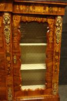 Outstanding Walnut Floral Marquetry Victorian Credenza (3 of 9)