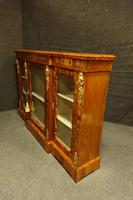 Outstanding Walnut Floral Marquetry Victorian Credenza (5 of 9)