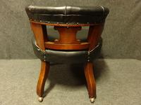 Good Mahogany Desk Chair c.1880 (2 of 6)