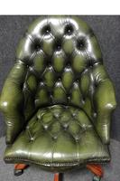 Green Leather Office, Desk Chair (3 of 5)