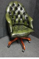 Green Leather Office, Desk Chair (5 of 5)