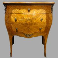 Beautiful French Bombe Shaped Commode Chest of Drawers (7 of 8)