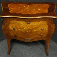 Beautiful French Bombe Shaped Commode Chest of Drawers (8 of 8)