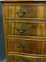 Mahogany Serpentine Four Drawer Chest of Drawers (5 of 6)