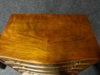 Mahogany Serpentine Four Drawer Chest of Drawers (2 of 6)