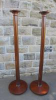 Pair of Antique Mahogany Pedestal Torchere Stands