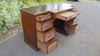 Antique Mahogany Pedestal Writing Desk by Gillows (3 of 13)