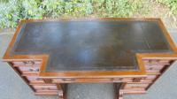 Antique Mahogany Pedestal Writing Desk by Gillows (2 of 13)