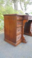 Antique Mahogany Pedestal Writing Desk by Gillows (11 of 13)