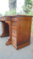 Antique Mahogany Pedestal Writing Desk by Gillows (9 of 13)
