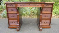Antique Mahogany Pedestal Writing Desk by Gillows (8 of 13)