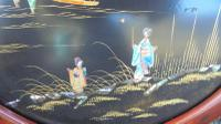 Pair of Antique Oriental Lacquered Chinoiserie Panels c.1900 (8 of 8)