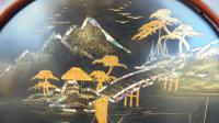 Pair of Antique Oriental Lacquered Chinoiserie Panels c.1900 (3 of 8)