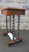 Antique Rosewood Ladies Writing Table (3 of 7)