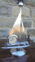 Art Deco Chrome Ship Clock Lamp (3 of 7)