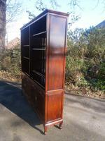 Antique Oriental Chinese Hardwood Bookcase Cabinet