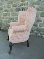 Antique English Barrel Back Wing Armchair (6 of 6)