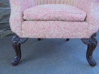Antique English Barrel Back Wing Armchair (4 of 6)