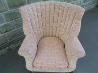 Antique English Barrel Back Wing Armchair (3 of 6)