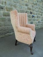 Antique English Barrel Back Wing Armchair (2 of 6)