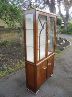 Art Deco Walnut Display Cabinet (7 of 8)