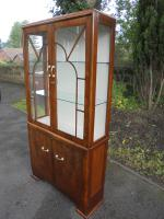 Art Deco Walnut Display Cabinet (6 of 8)