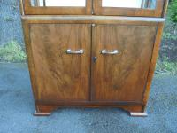 Art Deco Walnut Display Cabinet (8 of 8)
