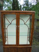 Art Deco Walnut Display Cabinet (4 of 8)