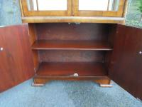 Art Deco Walnut Display Cabinet (5 of 8)