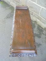 Antique Carved Oak Hall Seat Stool Bench c.1860 (4 of 8)
