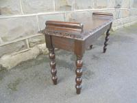 Antique Carved Oak Hall Seat Stool Bench c.1860 (3 of 8)