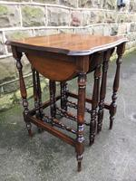 Antique Oak Nest of 4 Tables (8 of 9)