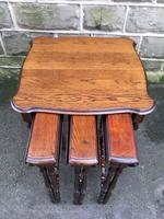 Antique Oak Nest of 4 Tables (6 of 9)
